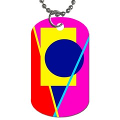 Colorful Geometric Design Dog Tag (one Side) by Valentinaart