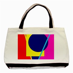 Colorful Geometric Design Basic Tote Bag (two Sides) by Valentinaart