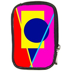 Colorful Geometric Design Compact Camera Cases by Valentinaart