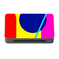 Colorful Geometric Design Memory Card Reader With Cf by Valentinaart
