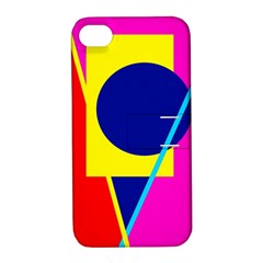 Colorful Geometric Design Apple Iphone 4/4s Hardshell Case With Stand by Valentinaart
