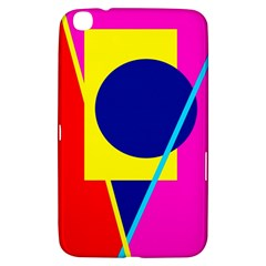 Colorful Geometric Design Samsung Galaxy Tab 3 (8 ) T3100 Hardshell Case  by Valentinaart