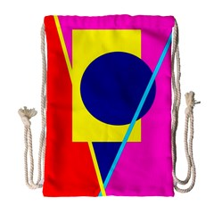 Colorful Geometric Design Drawstring Bag (large) by Valentinaart