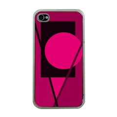 Decorative Geometric Design Apple Iphone 4 Case (clear) by Valentinaart