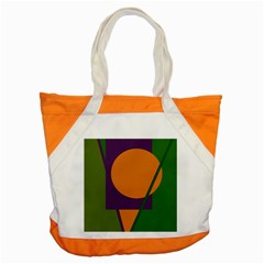 Green And Orange Geometric Design Accent Tote Bag by Valentinaart