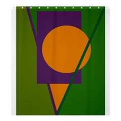 Green And Orange Geometric Design Shower Curtain 66  X 72  (large)  by Valentinaart