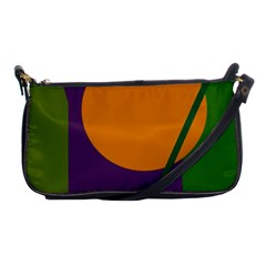 Green And Orange Geometric Design Shoulder Clutch Bags by Valentinaart