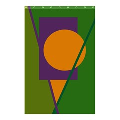 Green And Orange Geometric Design Shower Curtain 48  X 72  (small)  by Valentinaart