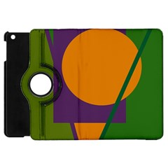 Green And Orange Geometric Design Apple Ipad Mini Flip 360 Case by Valentinaart