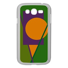 Green And Orange Geometric Design Samsung Galaxy Grand Duos I9082 Case (white) by Valentinaart