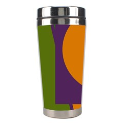 Green And Orange Geometric Design Stainless Steel Travel Tumblers by Valentinaart