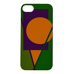 Green And Orange Geometric Design Apple Iphone 5s/ Se Hardshell Case by Valentinaart
