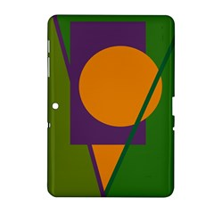 Green And Orange Geometric Design Samsung Galaxy Tab 2 (10 1 ) P5100 Hardshell Case  by Valentinaart