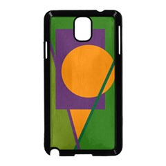 Green And Orange Geometric Design Samsung Galaxy Note 3 Neo Hardshell Case (black) by Valentinaart