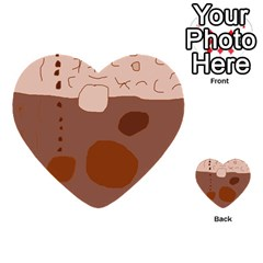 Brown Abstract Design Multi Purpose Cards (heart)