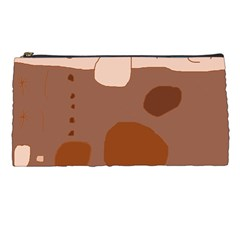 Brown Abstract Design Pencil Cases by Valentinaart