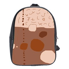 Brown Abstract Design School Bags(large)  by Valentinaart