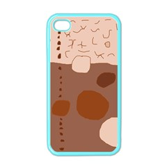 Brown Abstract Design Apple Iphone 4 Case (color) by Valentinaart
