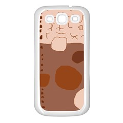 Brown Abstract Design Samsung Galaxy S3 Back Case (white) by Valentinaart
