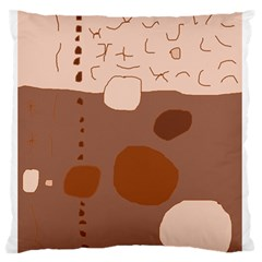 Brown Abstract Design Standard Flano Cushion Case (one Side) by Valentinaart
