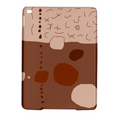Brown Abstract Design Ipad Air 2 Hardshell Cases by Valentinaart