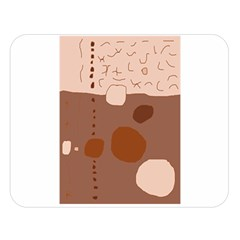 Brown Abstract Design Double Sided Flano Blanket (large)  by Valentinaart
