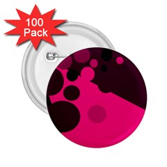 Pink Dots 2 25  Buttons (100 Pack)  by Valentinaart