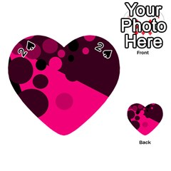 Pink Dots Playing Cards 54 (heart)  by Valentinaart