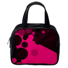 Pink Dots Classic Handbags (one Side) by Valentinaart