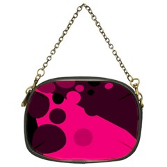 Pink Dots Chain Purses (two Sides)  by Valentinaart