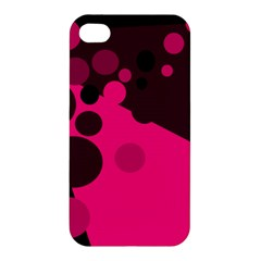 Pink Dots Apple Iphone 4/4s Hardshell Case by Valentinaart