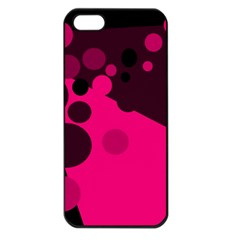 Pink Dots Apple Iphone 5 Seamless Case (black) by Valentinaart