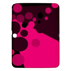 Pink Dots Samsung Galaxy Tab 3 (10 1 ) P5200 Hardshell Case  by Valentinaart
