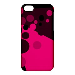 Pink Dots Apple Iphone 5c Hardshell Case by Valentinaart
