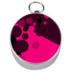Pink Dots Silver Compasses by Valentinaart