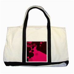 Pink Dots Two Tone Tote Bag by Valentinaart