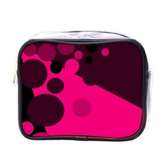 Pink Dots Mini Toiletries Bags by Valentinaart