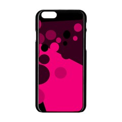 Pink Dots Apple Iphone 6/6s Black Enamel Case by Valentinaart