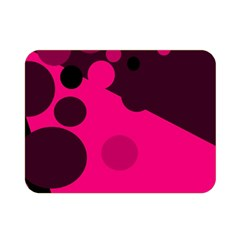 Pink Dots Double Sided Flano Blanket (mini)  by Valentinaart