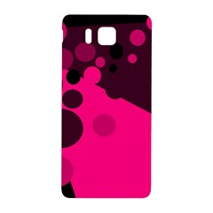 Pink Dots Samsung Galaxy Alpha Hardshell Back Case by Valentinaart