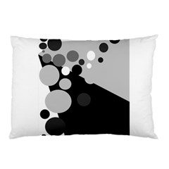 Gray Decorative Dots Pillow Case by Valentinaart