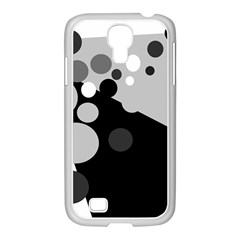 Gray Decorative Dots Samsung Galaxy S4 I9500/ I9505 Case (white) by Valentinaart