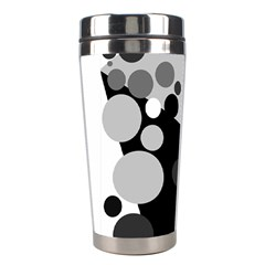 Gray Decorative Dots Stainless Steel Travel Tumblers by Valentinaart