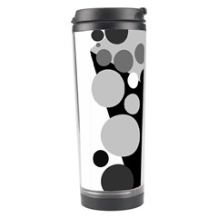 Gray Decorative Dots Travel Tumbler by Valentinaart