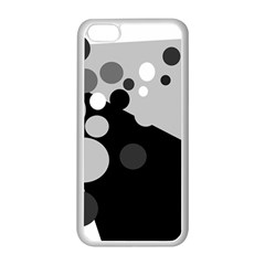 Gray Decorative Dots Apple Iphone 5c Seamless Case (white) by Valentinaart