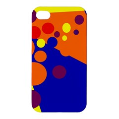 Blue And Orange Dots Apple Iphone 4/4s Hardshell Case by Valentinaart