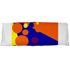 Blue And Orange Dots Body Pillow Case Dakimakura (two Sides) by Valentinaart