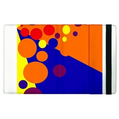Blue And Orange Dots Apple Ipad 3/4 Flip Case by Valentinaart
