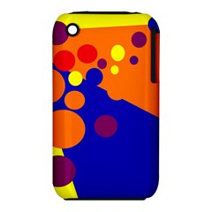 Blue And Orange Dots Apple Iphone 3g/3gs Hardshell Case (pc+silicone) by Valentinaart