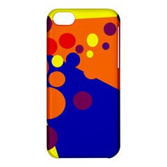 Blue And Orange Dots Apple Iphone 5c Hardshell Case by Valentinaart
